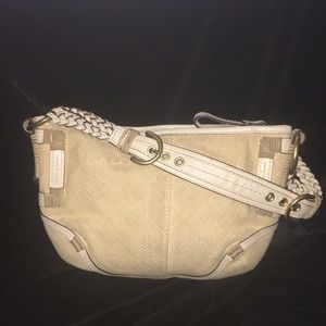 Coach Angora Straw Natural White w/ Brass 4710